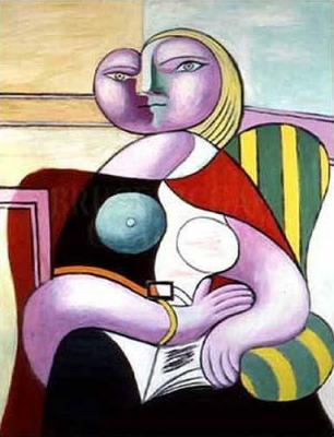 Pablo-Picasso-La-Lecture--Woman-Reading--7548